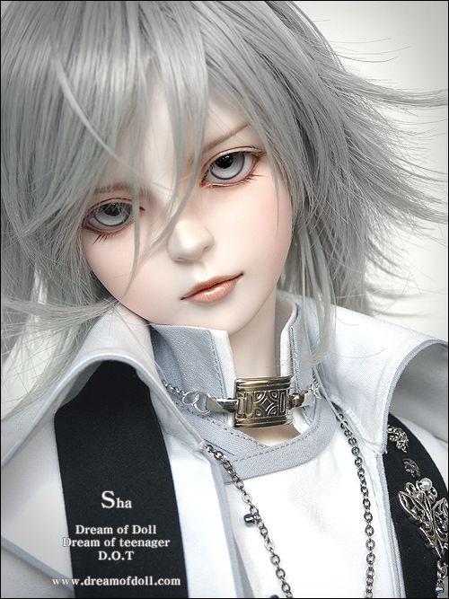 bjd white hair