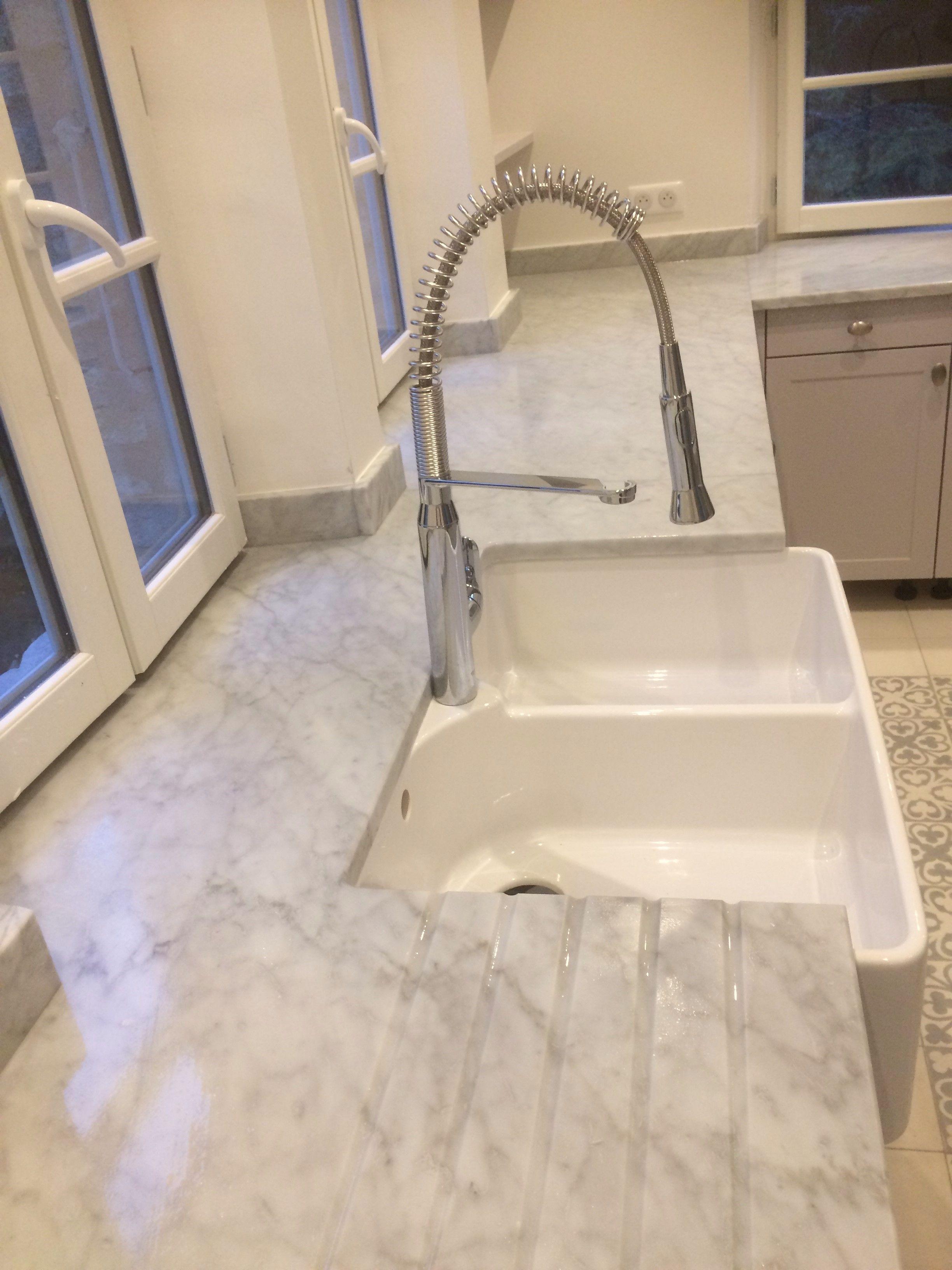 Plan De Cuisine En Marbre plan de travail de cuisine en marbre de carrare. cuisine