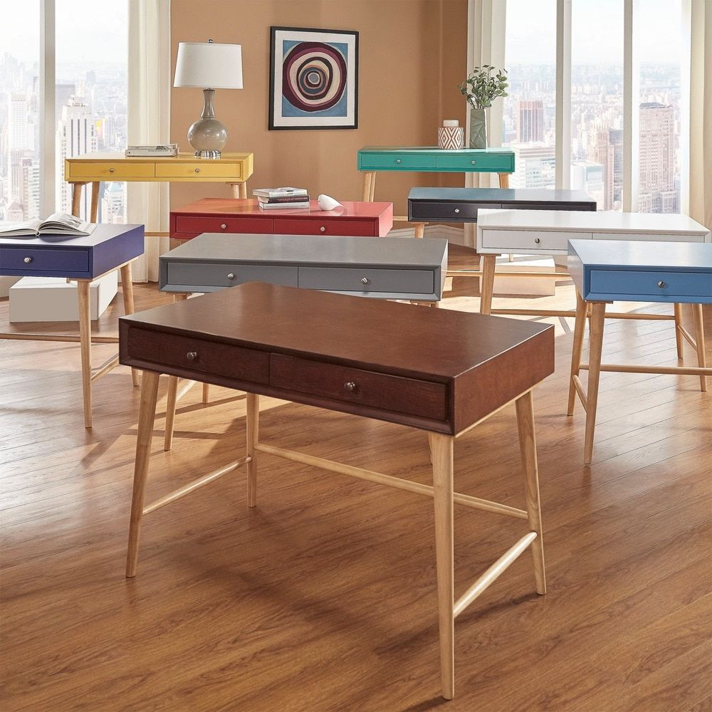 Marin Danish Modern 2-drawer Writing Desk iNSPIRE Q Modern by iNSPIRE Q