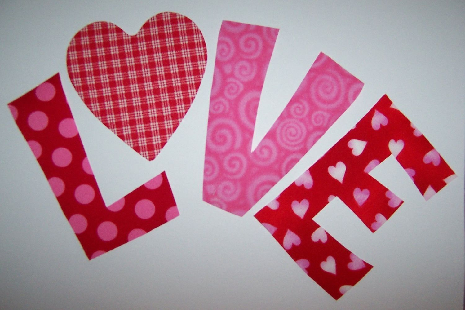 Fabric applique template only valentine heart love embroidery