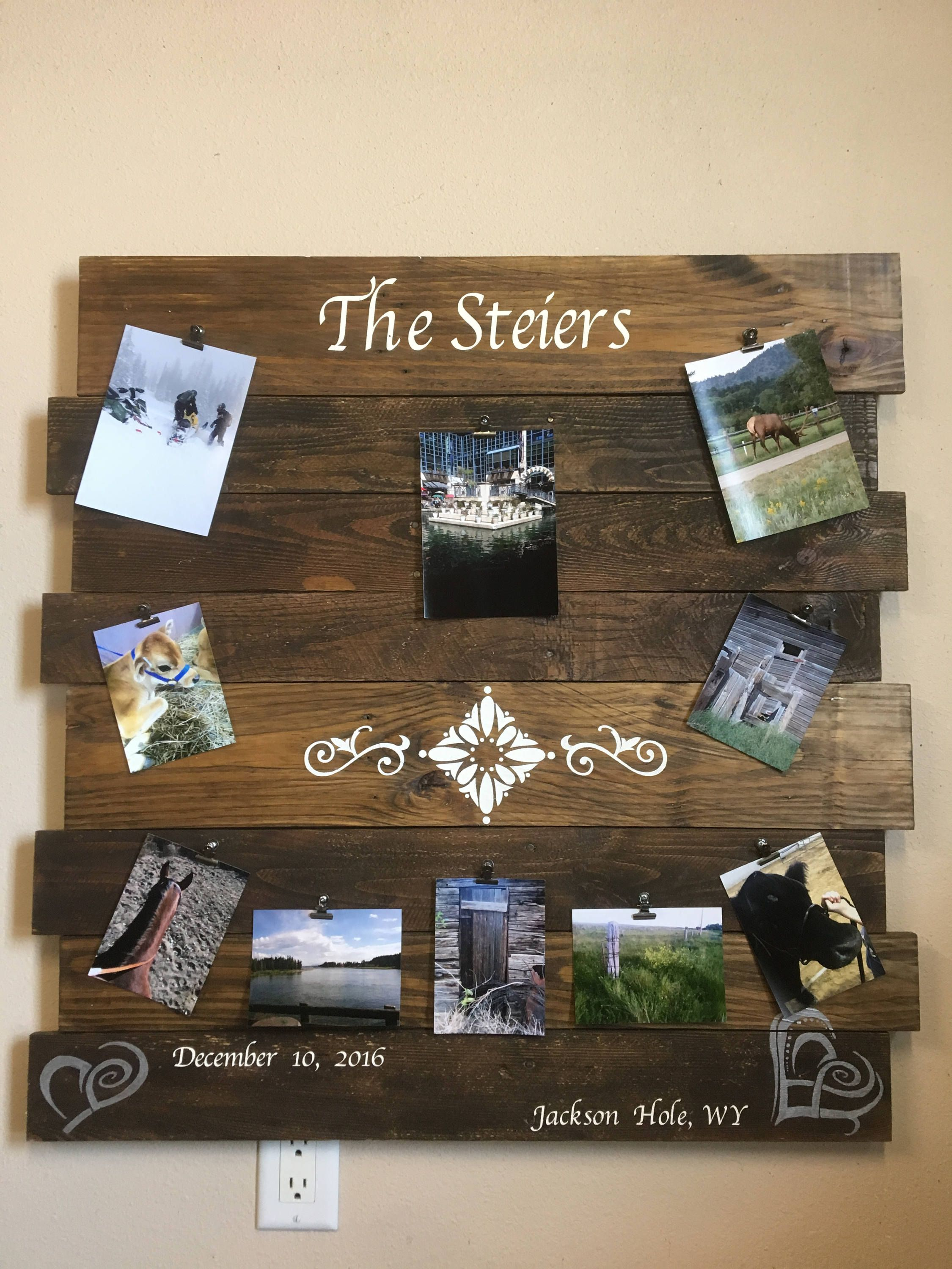 board Picture Board memory board picture collage Wooden