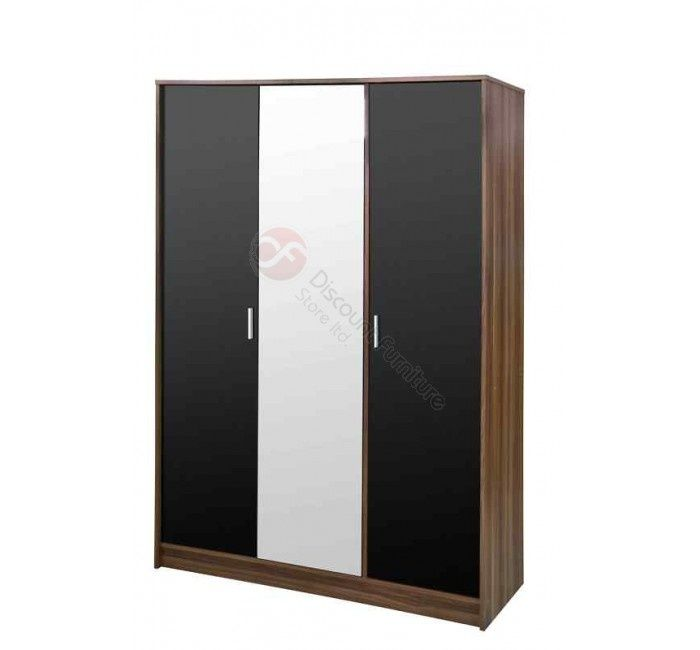 This is a latest in urban High Gloss Wardrobe offering all the storage space you need, its clean modern design and attention grabbing high-gloss finish brings a real touch of sophistication to your bedroom. The wardrobe consist 3 door with centered mirror.