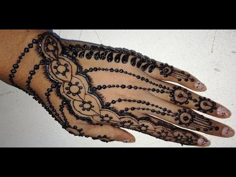 Mehndi Easy Design : How to apply easy simple latest jewellery inspired henna mehendi