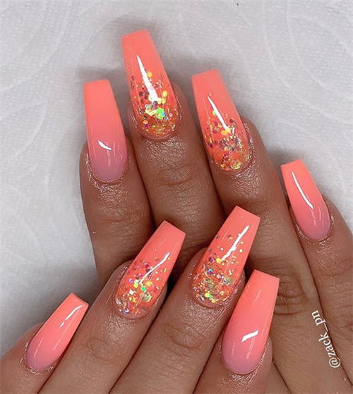 Bright And Glamorous Summer With Ombre Nail Art Design Ideas Nail Art Ombre Blue Ombre Nails Ombre Nail Art Designs