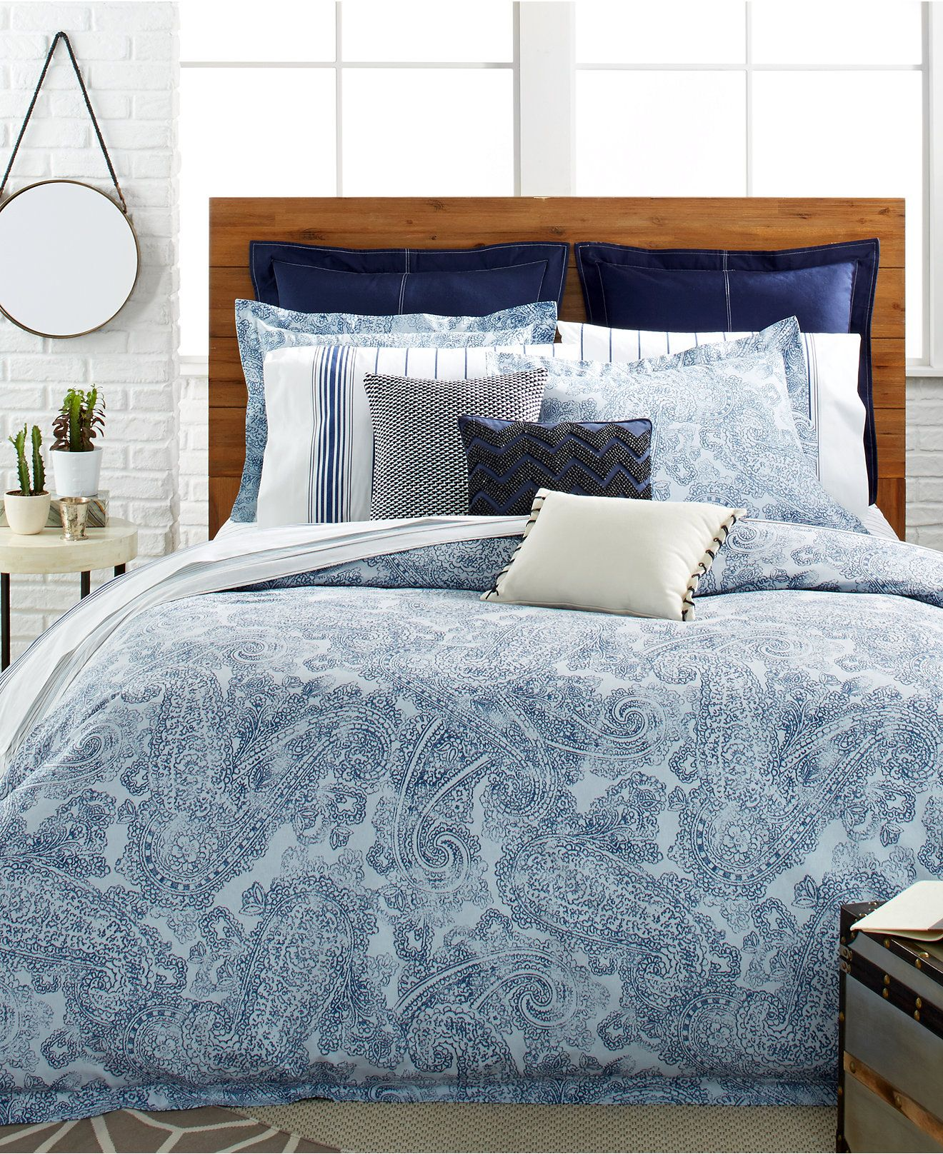 Tommy Hilfiger Canyon Paisley Comforter And Duvet Cover
