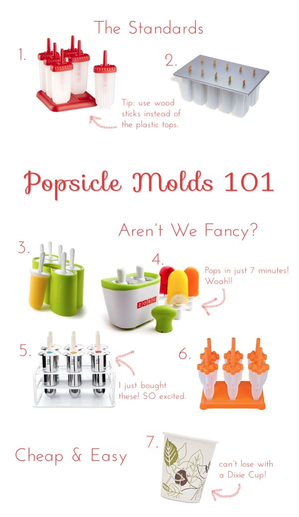 Popsicles Molds 101 | via Love+Cupcakes | Popsicles and more | Pinterest