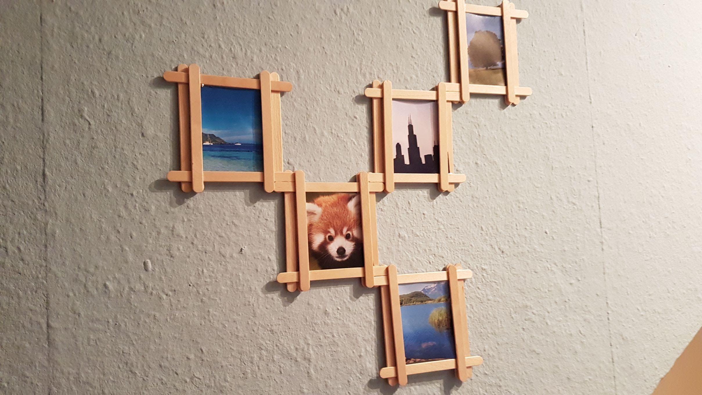 Diy Popsicle Stick Multi Photo Frame