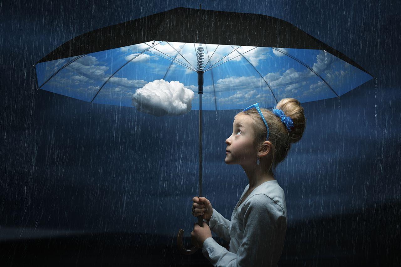 Обои фантазия, Облака, зонты, комната. Ситуации foto 12