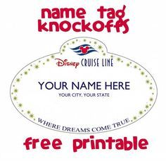 Name Tag Knockoff  Fish Extender Gift Idea  Itinerary Sample