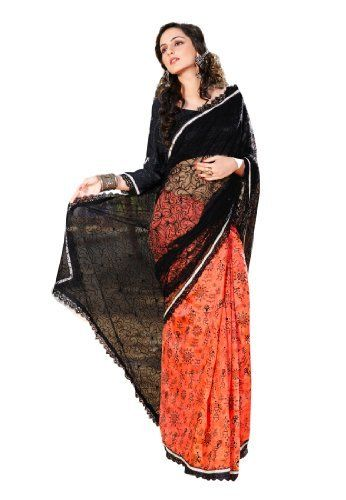 113986a187 Fabdeal Indian Designer Jacquard Black Embroidered Saree Fabdeal,  http://www.amazon