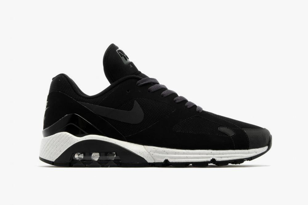 Nike Air Max 180 Black Purple Mens Running Trainers Shoes