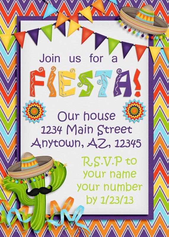 cinco de mayo fiesta party invitation mexican party pinterest