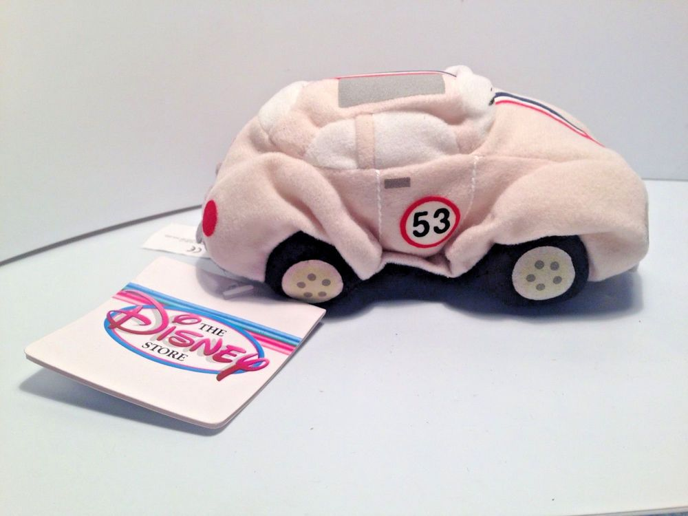 Bug Toys For Boys : Disney herbie the love bug vw beetle quot plush white red
