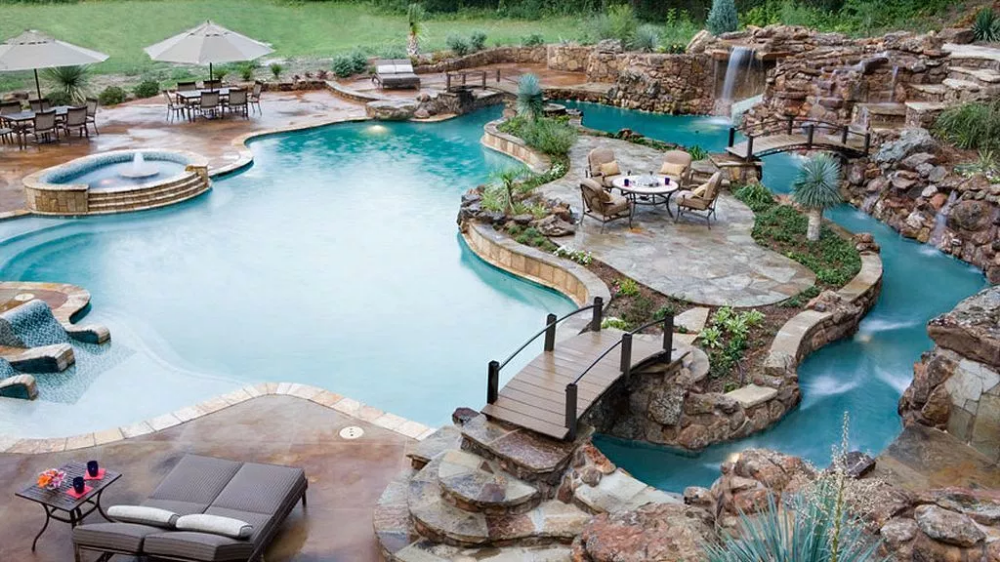Insanely Cool Lazy River Pool Ideas In Home Backyard 33 Homegardenmagz Dream Pools Lazy River Pool Backyard Pool