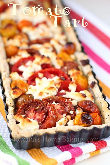 tomato tart with poppy seed crust #BHGSummer