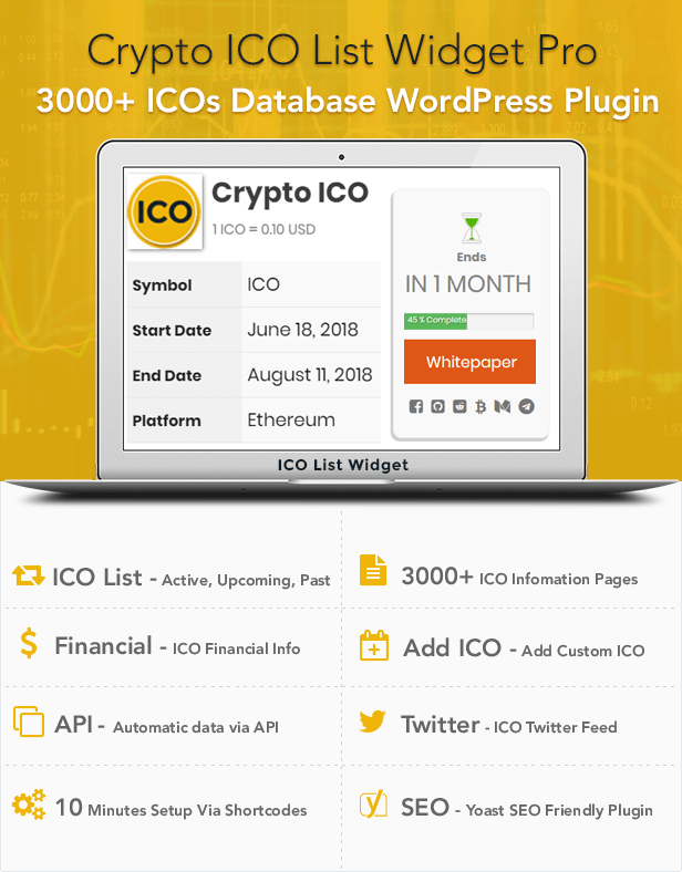 Crypto ICO List Widgets Pro - WordPress ICO Database Plugin