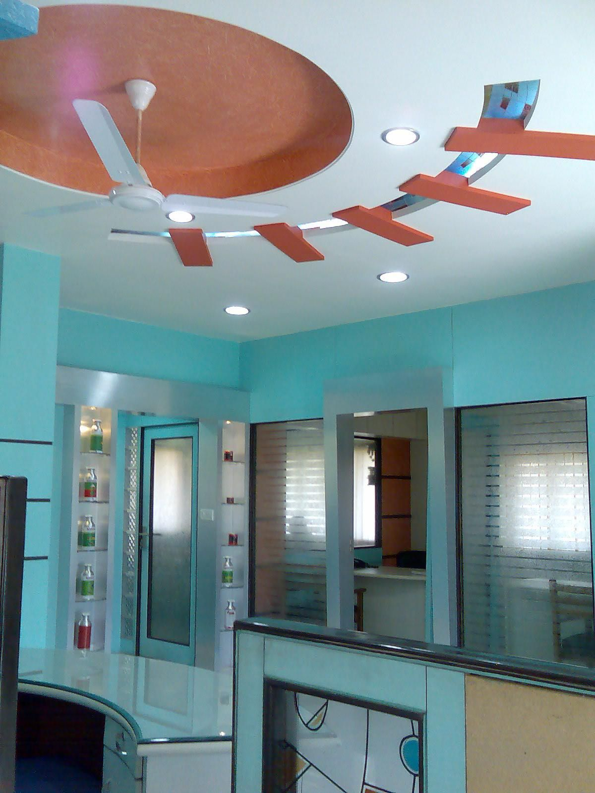 Living room ceiling design - GharExpert | Home Decoration ...