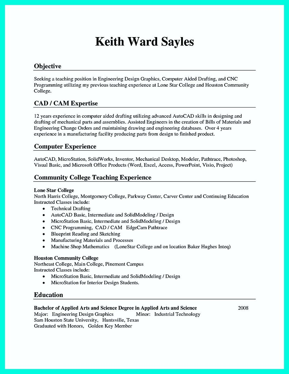 Cool Writing Your Qualifications In Cnc Machinist Resume A Must Template