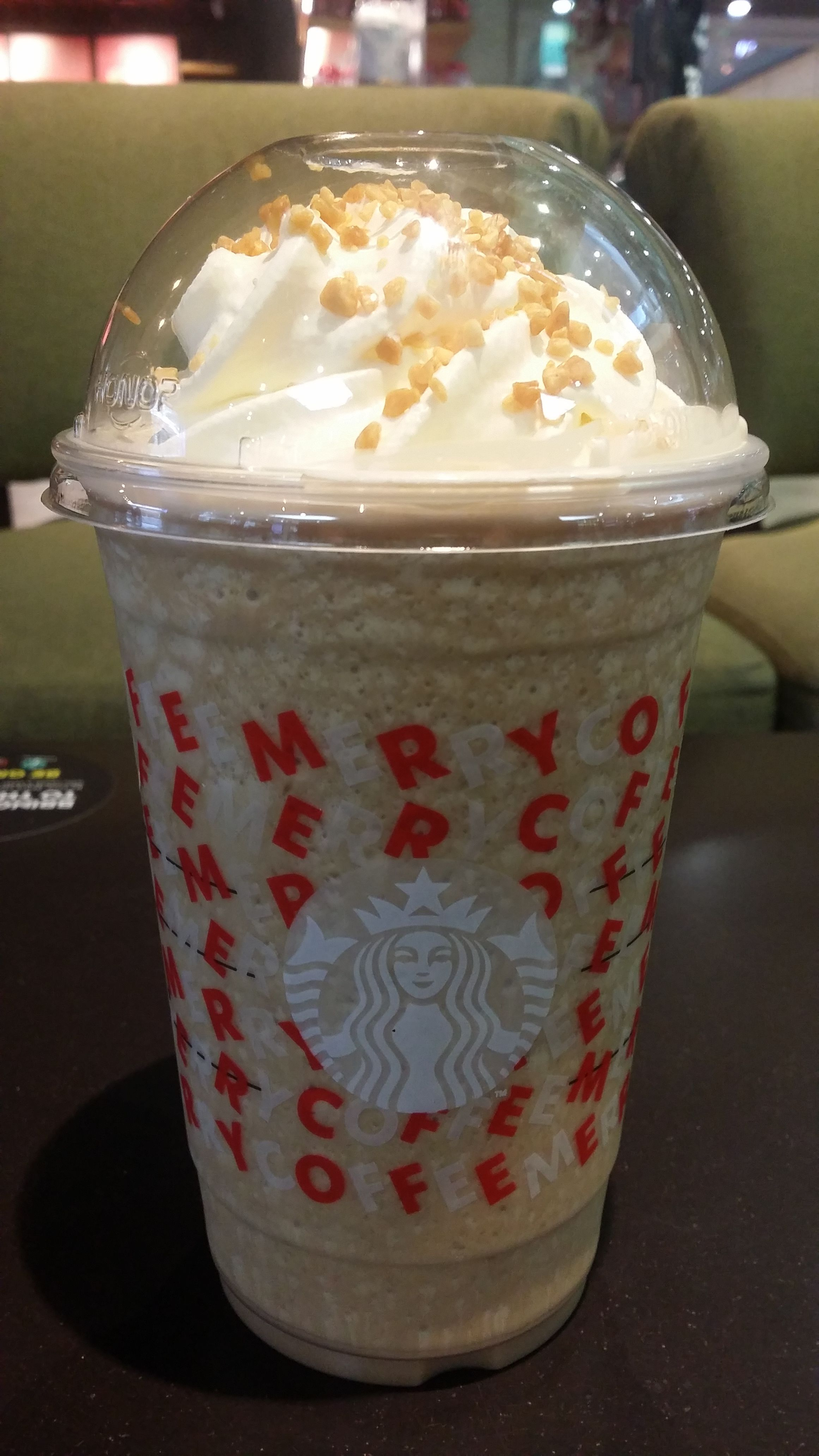 Toffee Nut Crunch Frappe At Starbucks