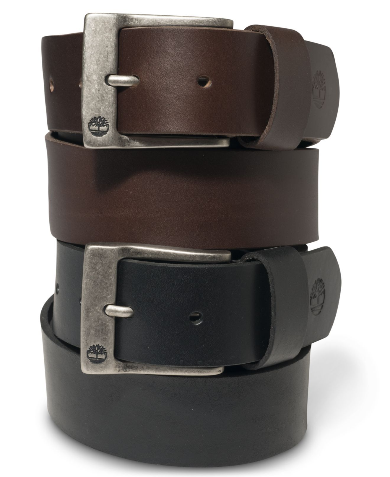 Timberland Black And Brown Leather Belt