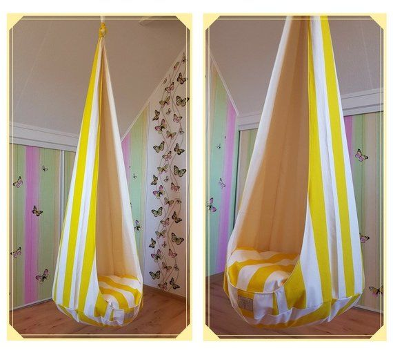 Cocoon indoor swing chair Striped pattern toddler swing ...