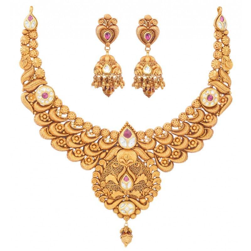 Relish Gold Set - Wedding Jewellery - Gold   jewellery   Pinterest ...