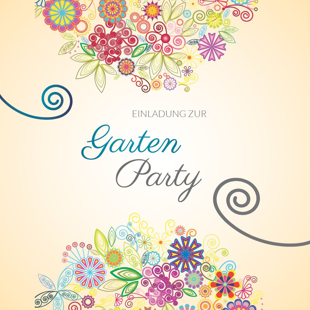 Vorlage gartenfest einladung Einladung zum
