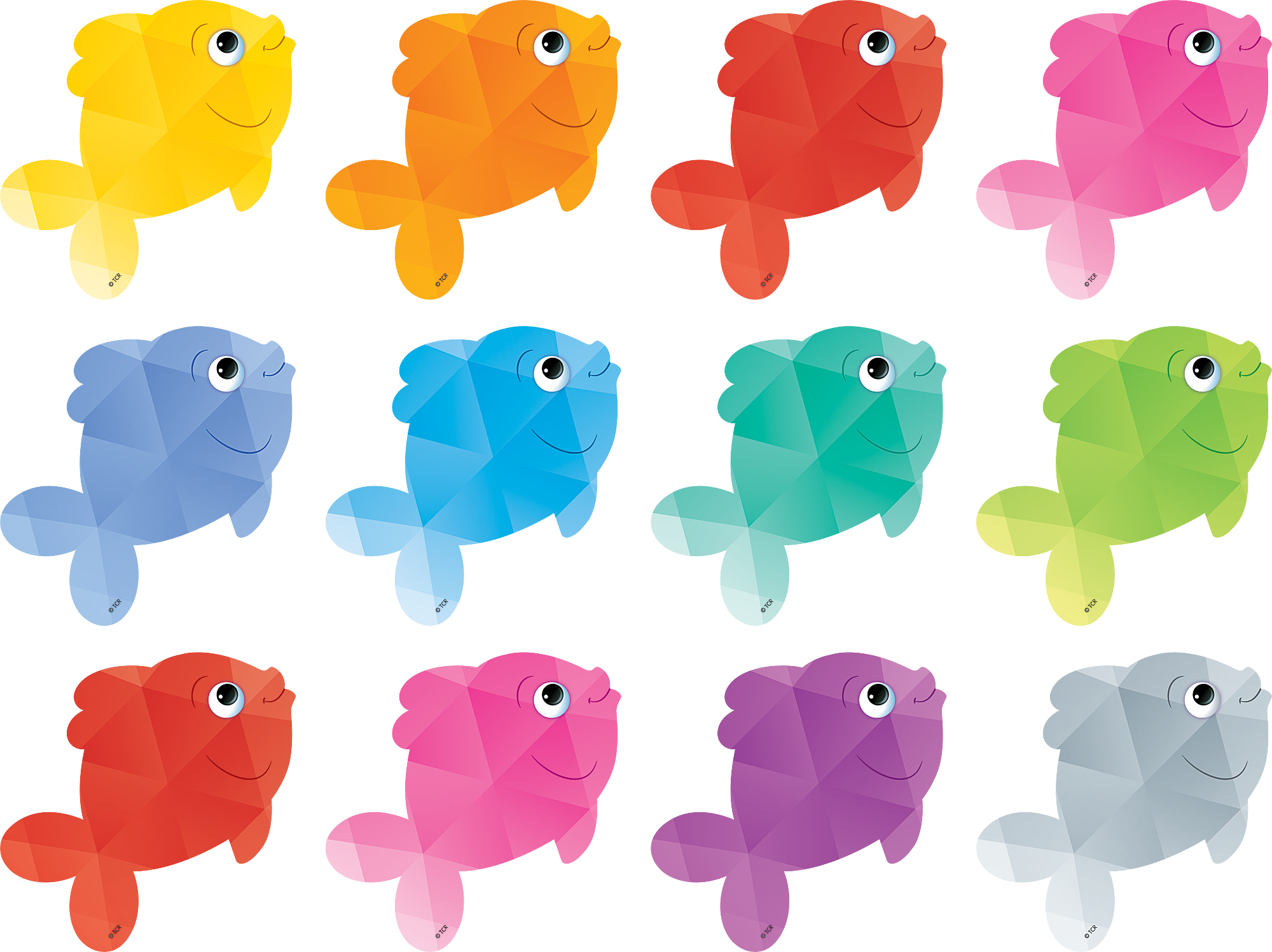 Colorful Fish Mini Accents Colorful Fish Rainbow Fish Fish Crafts