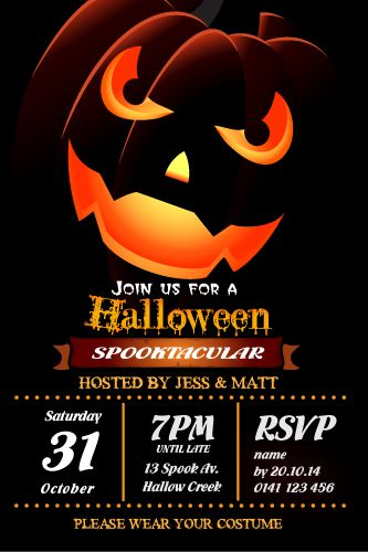 Halloween Party Invitation Spooktacular Halloween Party