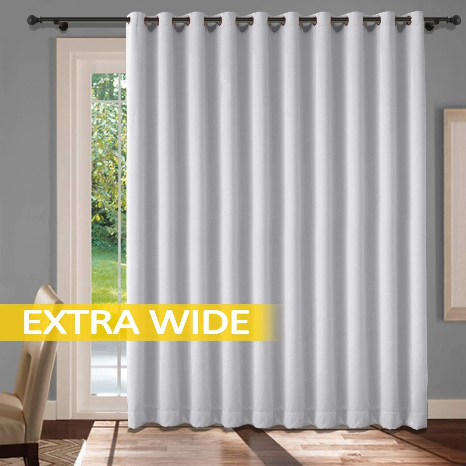 Amazon Com Cololeaf Extra Wide Patio Door Curtains Thermal