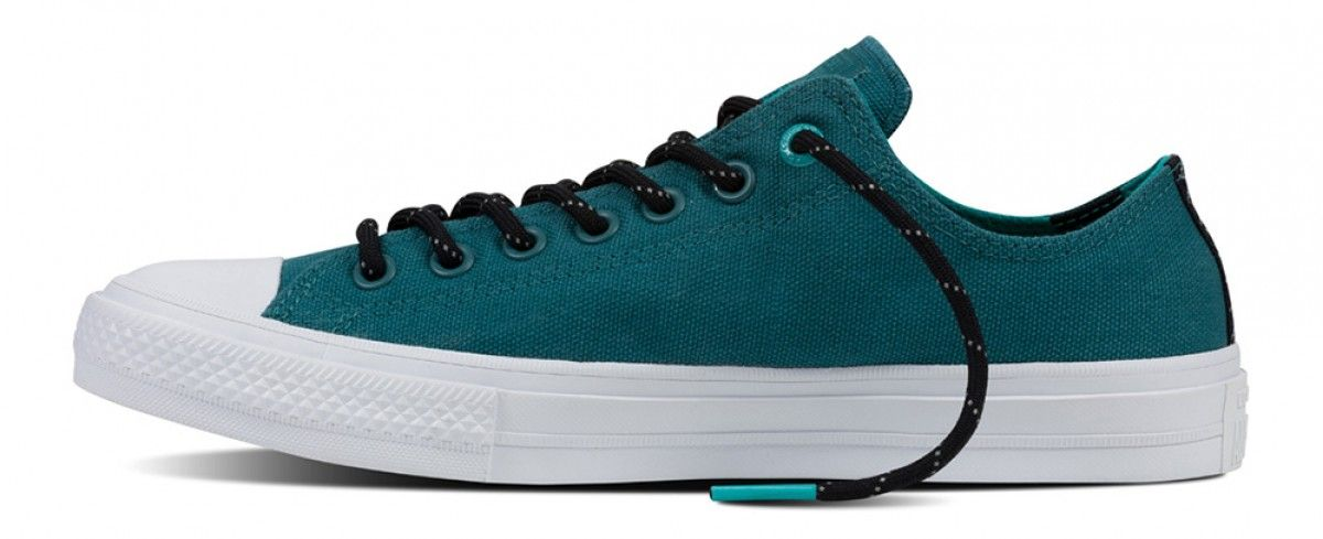 310ea9e7ec27 Converse Chuck Taylor All Star II Shield Canvas Low Top Cool  Jade White Aegean Aqua