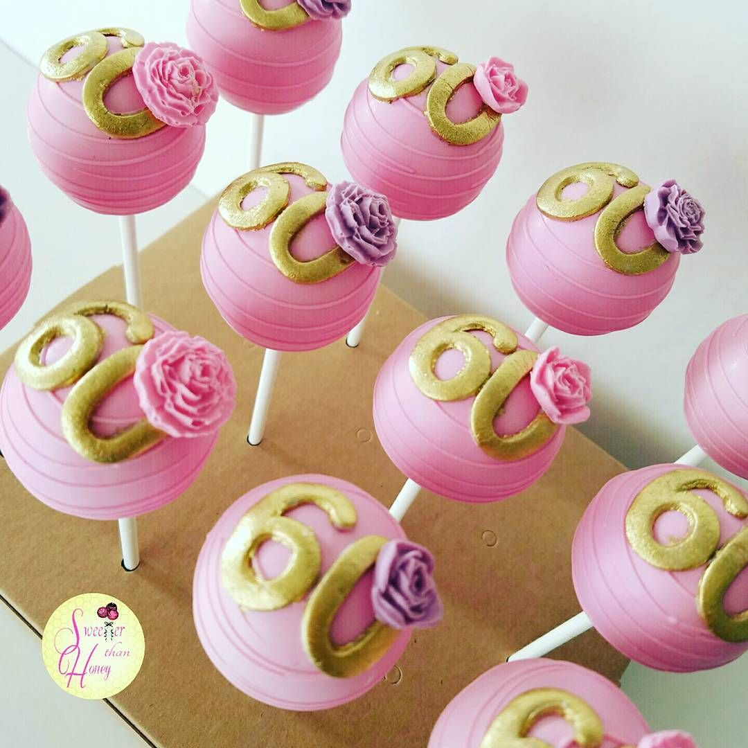 Swell 60Th Celebration Cakepops Cakepops With Images 60Th Birthday Personalised Birthday Cards Cominlily Jamesorg