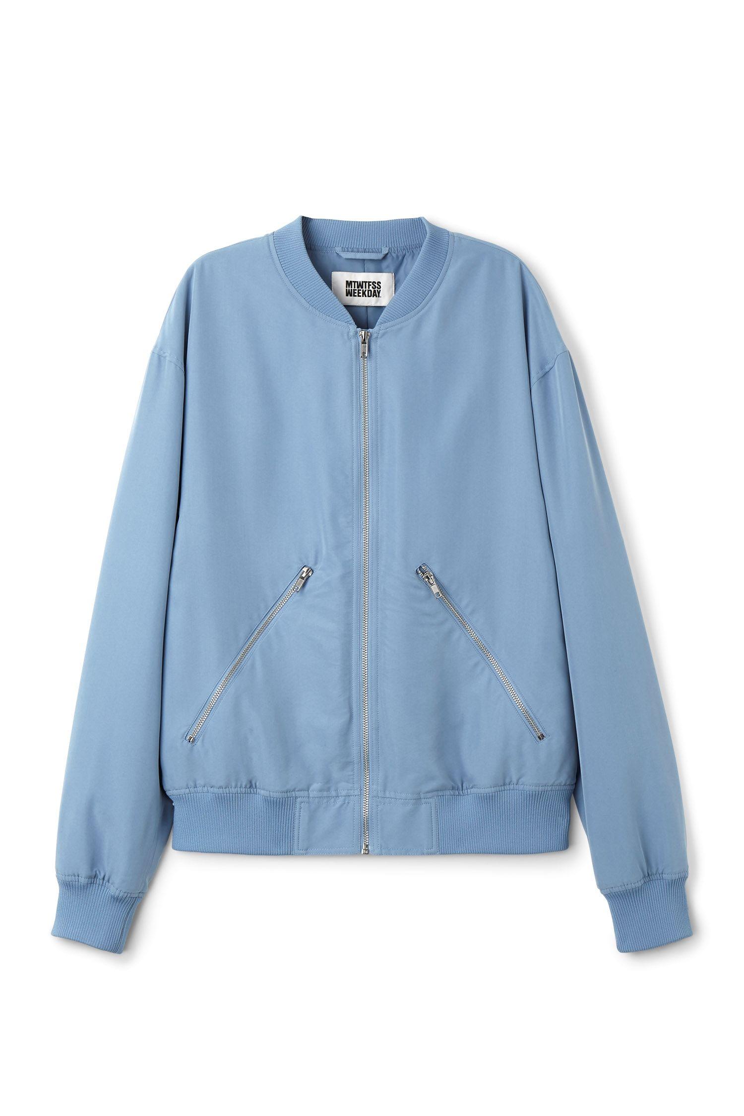 Weekday Image 22 Of Monoc Bomber Jacket In Blue Shop Womens Jackets Jackets Bomber Jacket [ 2250 x 1500 Pixel ]