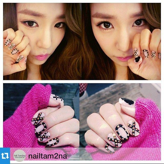 Tiffany\u0027s Nail XOXO Tiffany Hwang, Snsd Tiffany, Nail Diamond, Korean  Makeup, Mani
