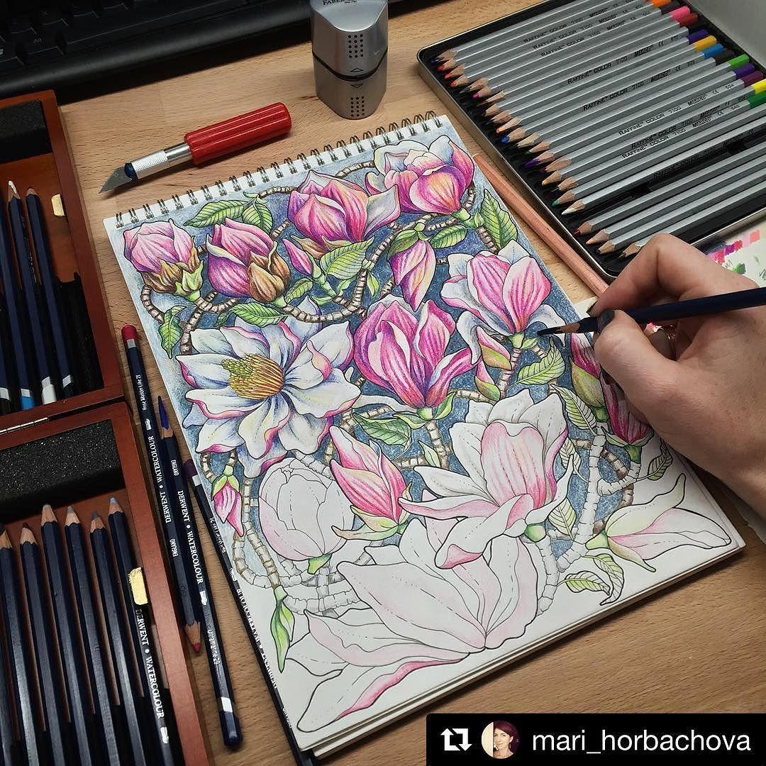 Repost Mari Horbachova With Repostapp Art Adultcoloringbook