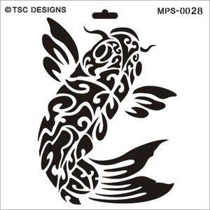 Koi fish stencil zentangle pen ink inspiration for Koi fish stencil