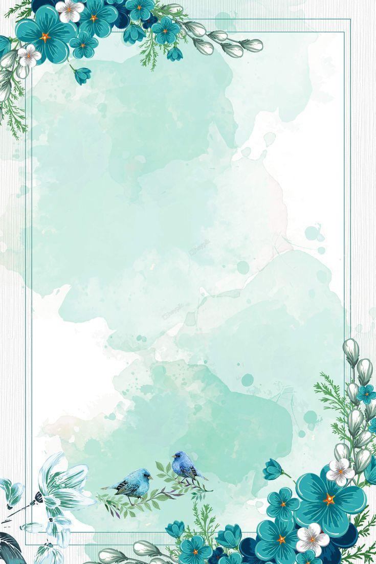 chinese style watercolor blue flowers border backg... - #backg #Blue #border #Chinese #Flowers #Style #vector #Watercolor #framesandborders