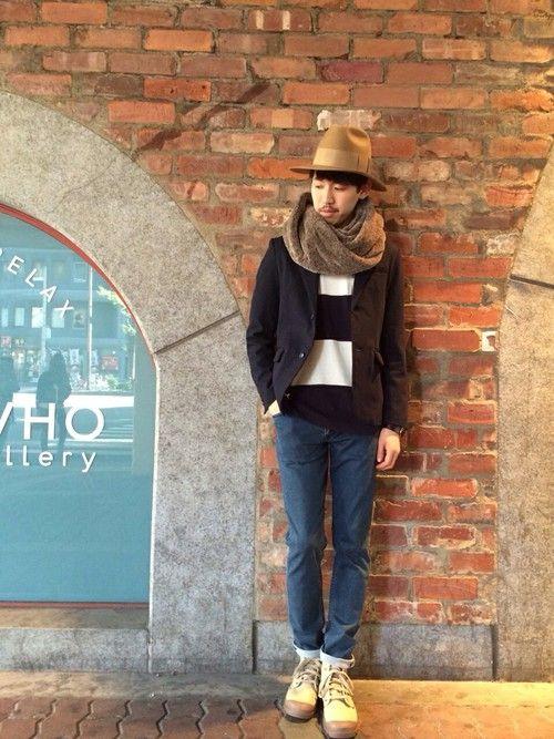 SHOGO・KITAさんのマフラー/ショール「WHO'S WHO gallery MIXファースヌード」を使ったコーディネート