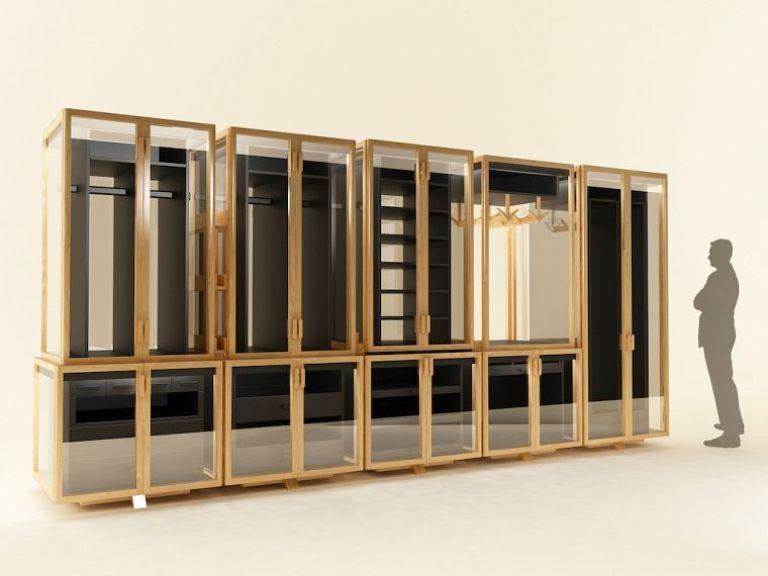 Modular Transparent Clothing Storage System DigsDigs LIVING - begehbarer kleiderschrank modular system