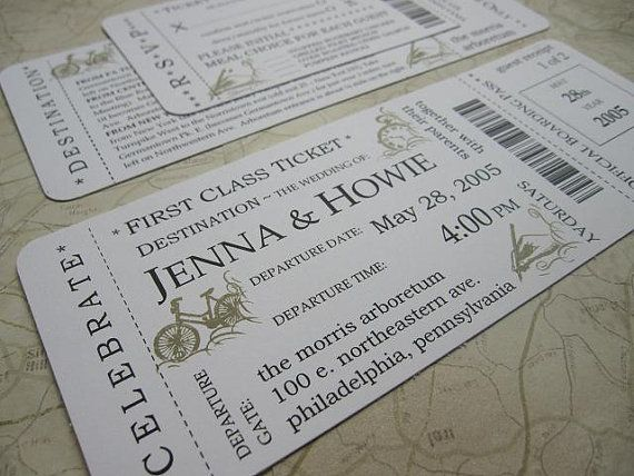 cute invitations maybe even save the dates that look like movie