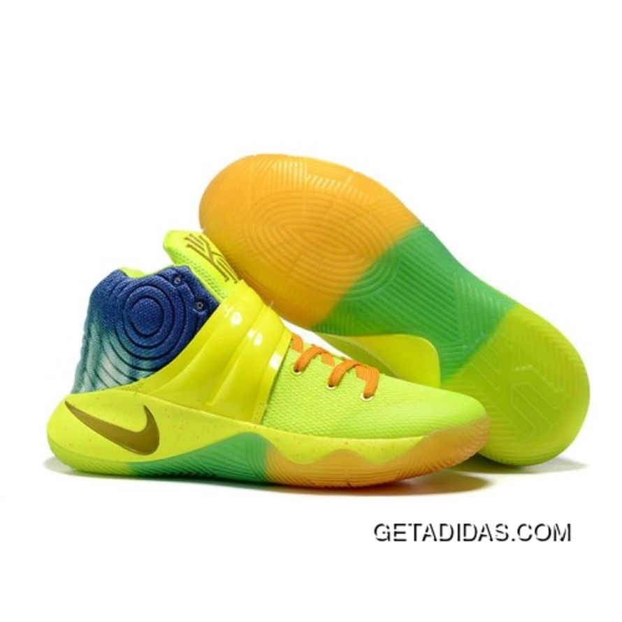 Nike Kyrie 2 Sneakers Yellow Orange Basketball Shoes New Style