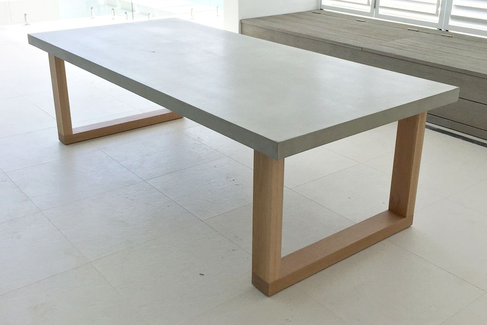 Polished Concrete Dining Table Woodworking Diy Project Free Regarding Brilliant Concrete