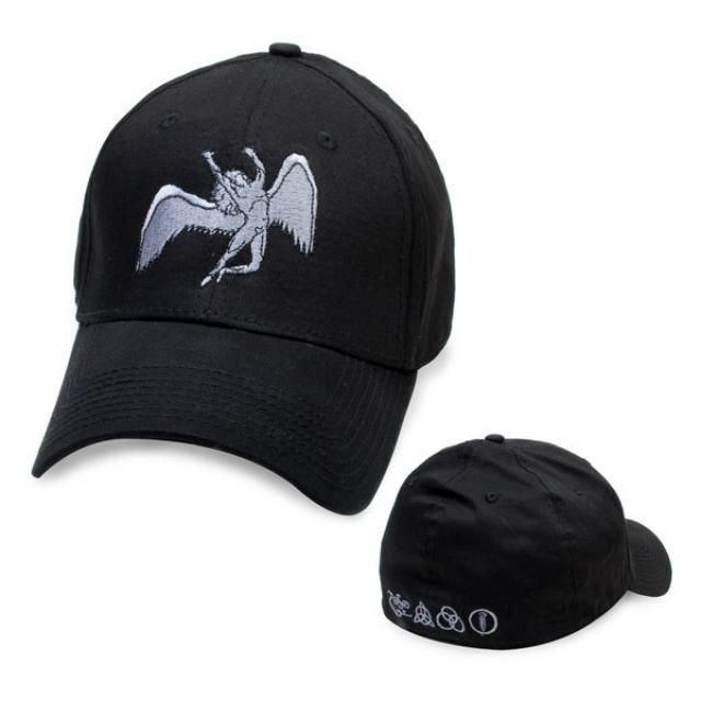 8c8e17ea3ce Check out Led Zeppelin Silver-Grey Icarus Baseball Cap (New Era) on   Merchbar.