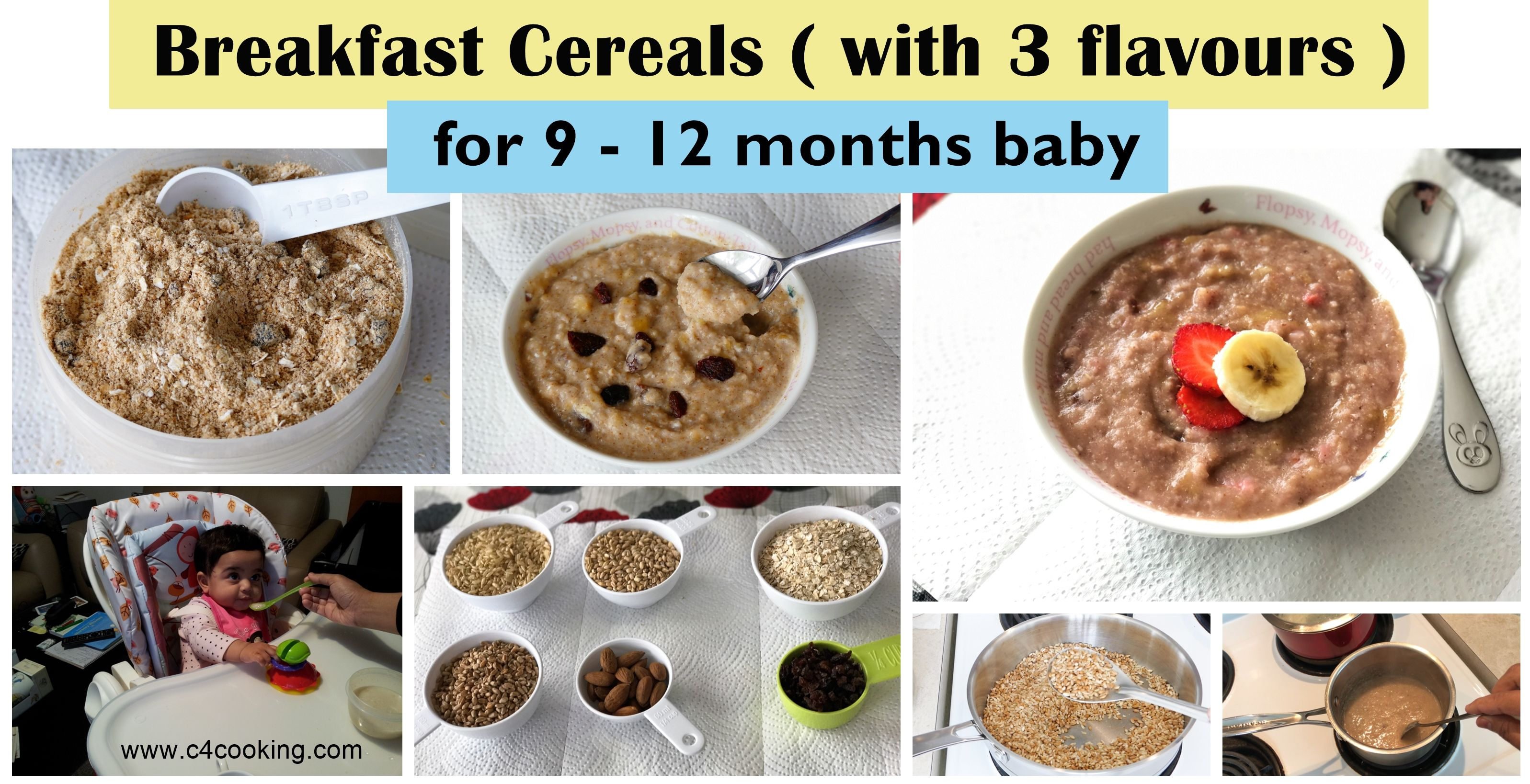 homemade cereal for 9 - 12 months baby, breakfast cereal ...