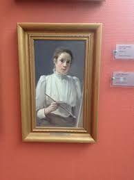 Lotten Rönquist, självporträtt 1894.