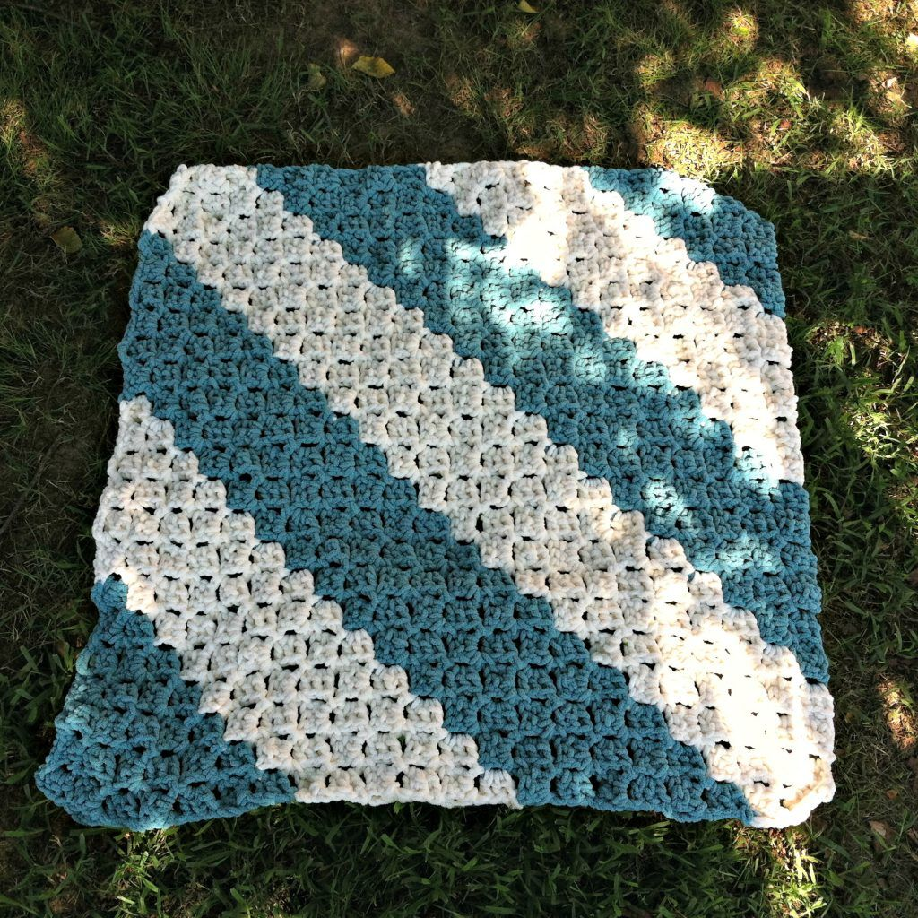 Free Pattern - Quick and Easy Baby Blanket | Easy baby blanket, Free ...