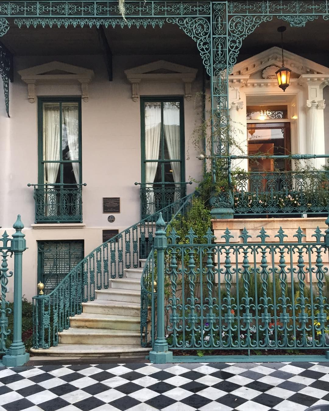 Good Morning Charleston Architecture Broadstreet Perfect Color For Wrought Iron Railings Iron Garden Gates Iron Railings Outdoor Wrought Iron Garden Gates