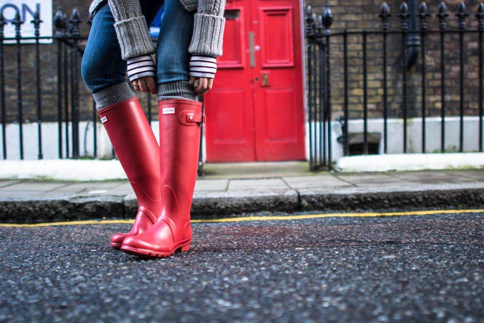 red hunter, outfit, fashion blogger