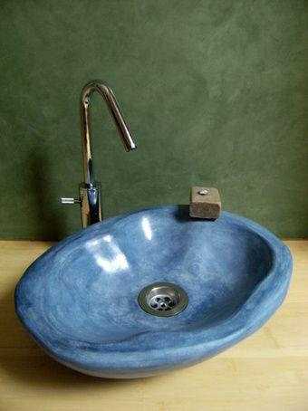 La Vasque En Tadelakt Natural Homes Earthship Sink