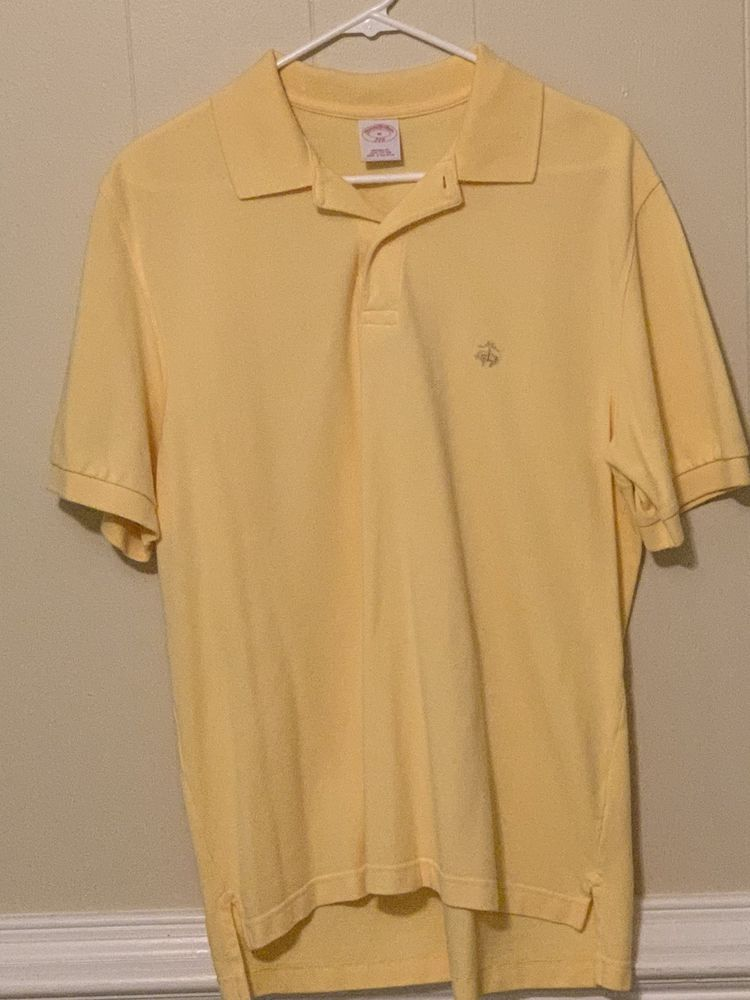 3387a601c38 Men s Yellow Brooks Brothers Polo Shirt Pre-Owned Excellent Condition  Medium M  fashion  clothing  shoes  accessories  mensclothing  shirts (ebay  link)